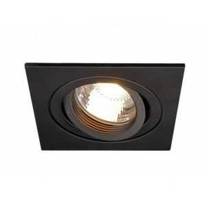 SLV 111720 New Tria GU10 square zwart inbouwspot