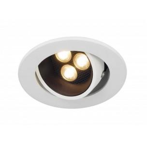 SLV 113761 Triton Horn 3 set zwart/wit led 12gr. inbouwspot