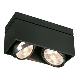 SLV 117110 Kardamod Surface Square ES111 single zwart plafondlamp