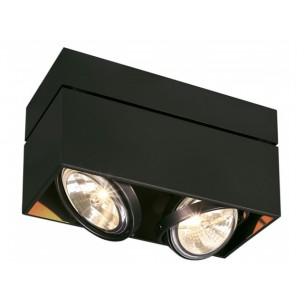 SLV 117130 Kardamod Surface Square QRB111 double zwart plafondlamp