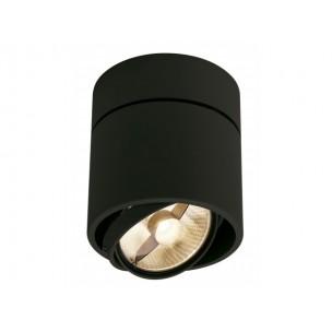 SLV 117160 Kardamod Surface Round ES111 single zwart plafondlamp