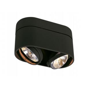 SLV 117190 Kardamod Surface Round QRB111 double zwart plafondlamp