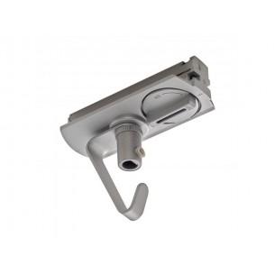 SLV 143172 1-Fase adapter met haak zilvergrijs
