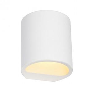 SLV 148016 GL 104 Round wit gips wandlamp