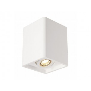 SLV 148051 Plastra Box 1 wit gips plafondlamp