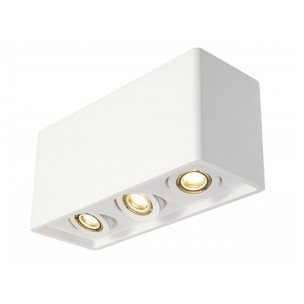SLV 148053 Plastra Box 3 wit gips plafondlamp