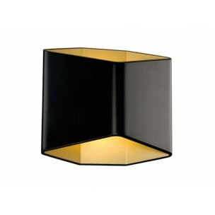 SLV 151710 Cariso 2 Zwart / messing wandlamp