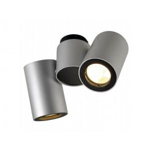 SLV 151834 Enola_B Spot 2 zilvergrijs/zwart wand- en plafondspot