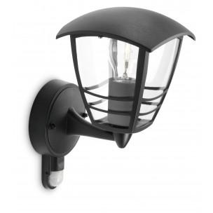 Philips Creek 153883016 zwart met sensor myGarden wandlamp