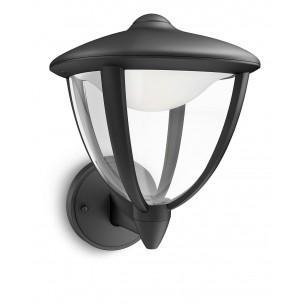 Philips Robin 154703016 zwart MyGarden wandlamp
