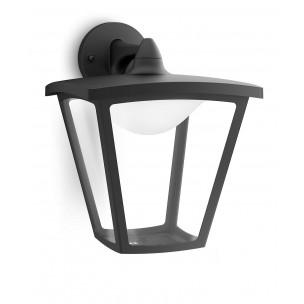 Philips Cottage 154813016 zwart MyGarden wandlamp