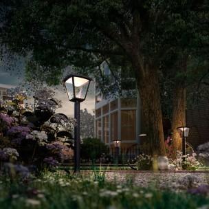 Philips Cottage 154843016 zwart MyGarden vloerlamp