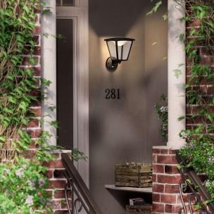 Philips Cottage 154883016 zwart MyGarden wandlamp
