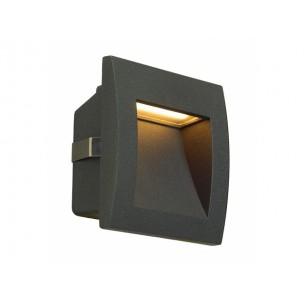 SLV 233605 Downunder Out LED S antraciet wand inbouwspot