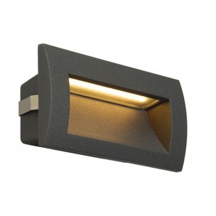 SLV 233625 Downunder Out LED M antraciet wand inbouwspot