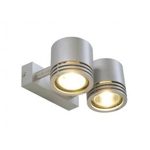 SLV 151922 Barron 2 zilvergrijs wand- en plafondspot