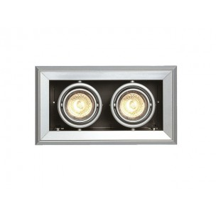 SLV 154122 Aixlight Mod 2 MR16 zilvergrijs inbouwspot