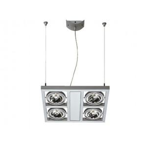 SLV 154212 Aixlight Square QRB111 zilvergrijs hanglamp