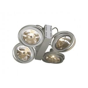 SLV 149144 Tec 4 Karda zilvergrijs plafondlamp
