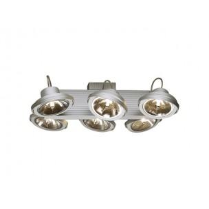 SLV 149146 Tec 6 Karda zilvergrijs plafondlamp