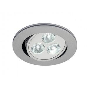SLV 111852 Triton zilvergrijs 3 LED warmwit inbouwspot