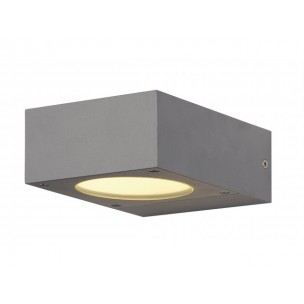 SLV 232284 Quadrasyl WL 15 zilvergrijs wandlamp buiten