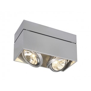 SLV 117134 Kardamod Surface Square QRB111 double zilvergrijs plafondlamp