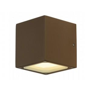 SLV 232537 Sitra Cube roest kleur wandlamp buiten