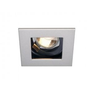 SLV 112474 Indi Rec 1 S GU10 zilvergrijs inbouwspot