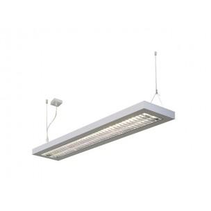 SLV 157524 Long Grill 2x54W zilvergrijs kantoorverlichting