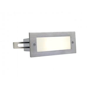SLV 230232 Brick LED 16 warmwit edelstaal wand inbouwspot