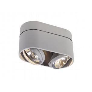 SLV 117194 Kardamod Surface Round QRB111 Double zilvergrijs plafondlamp