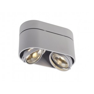 SLV 117184 Kardamod Surface Round ES111 Double zilvergrijs plafondlamp