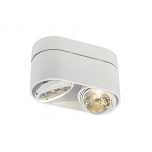 SLV 117181 Kardamod Surface Round ES111 Double wit plafondlamp