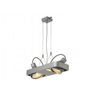 SLV 159054 Aixlight R2 Duo HQI111 zilvergrijs winkelverlichting
