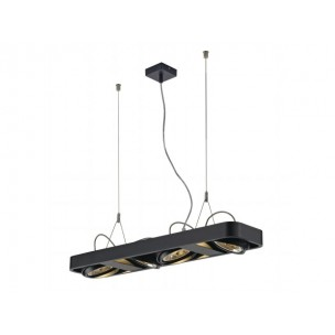 SLV 159080 Aixlight R2 Long QRB111 zwart hanglamp