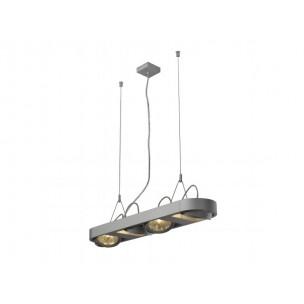 SLV 159074 Aixlight R Long QRB111 zilvergrijs hanglamp