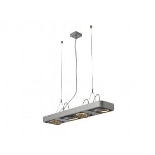 SLV 159084 Aixlight R2 Long QRB111 zilvergrijs hanglamp