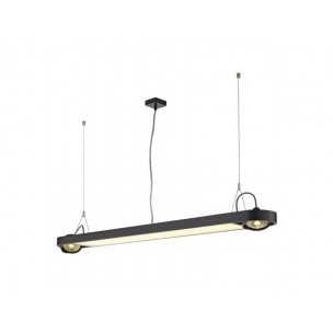 SLV 159090 Aixlight R Office T5, 39W zwart kantoorverlichting