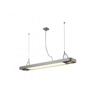 SLV 159104 Aixlight R2 Office T5, 39W zilvergrijs kantoorverlichting
