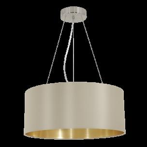 31607 Eglo Maserlo taupe / goud hanglamp
