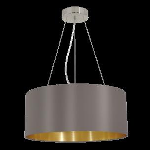 31608 Eglo Maserlo cappucino / goud hanglamp