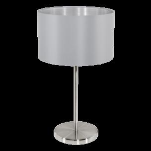 31628 Eglo Maserlo grijs / zilver tafellamp