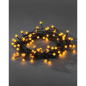 Konstsmide 3691-007 Led lichtsnoer 80 bolletjes geel kerstverlichting