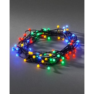 Konstsmide 3691-507 Led lichtsnoer 80 bolletjes multicolor kerstverlichting