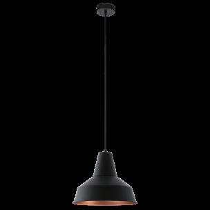 49387 Eglo Somerton Vintage hanglamp zwart