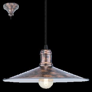 49454 Eglo Bridport Vintage hanglamp zwart