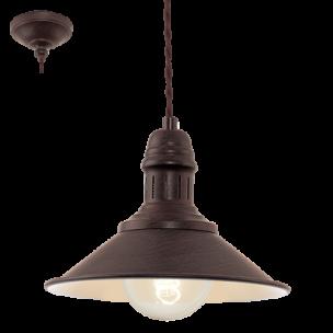 49455 Eglo Stockbury Vintage hanglamp beige