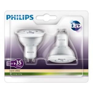 Duopack Philips led lamp GU10 3.5W