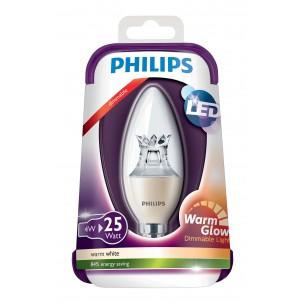 Philips LED WarmGlow led lamp E14 4W dimbaar